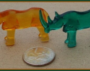 Set of Two 1950s Ringling Bros Barnum and Bailey Circus Animal RHINOS