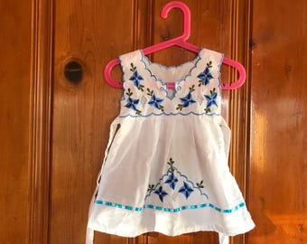 Vintage toddler/baby embroidered/ethnic dress