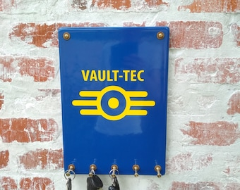 Wall key holder Vault-Tec for real Fallout fans. Keyholder plate vault tec. Wall key rack. Notes holder, custom key rack, modern key holder