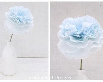 LINEN Wedding Anniversary 4th year Gift Long Stem Flower for Her Wife Girlfriend Fiancee Linen Flower by Cotton Bird Designs