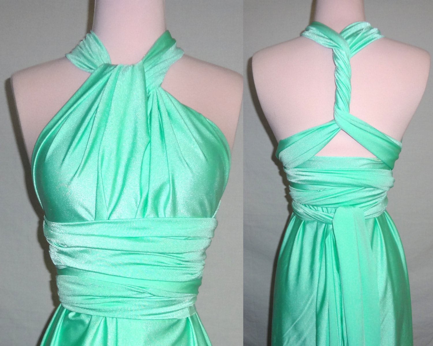 Mint green convertible dress37 colors bridesmaids dress zoom ombrellifo Image collections