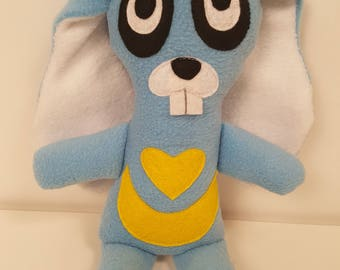 Mr.Bunnie Rabbit Plush Doll eyes