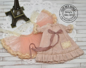 Shabby Chic Dress/Outfit for Blythe/Pullips Dress/ Licca/ Azone A28