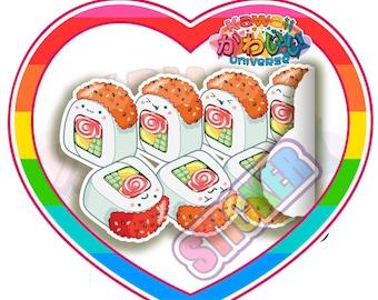 Kawaii Cute Cali Roll Sushi Sticker