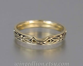AUGUSTA 14K yellow gold wedding band
