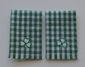 Shamrock dish towels