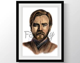 Star Wars, Obi Wan Kenobi, Stampa A4