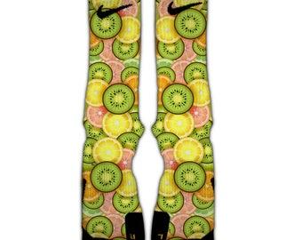 Citrus splash Nike Elite socks