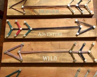 Rustic String art arrow signs