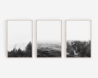Black and White,Prints,Set of 3 Prints,Scandinavian Prints,Black and White Prints,Large Wall Art,Printable Art,Wall Art Prints,Nature Prints