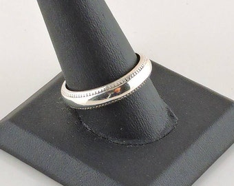 Size 10.5 Sterling Silver Textured Band Ring