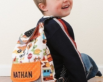 Preschool Backpack a PDF sewing pattern - free shipping