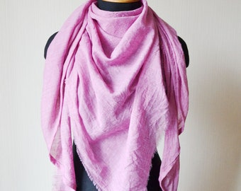pink scarf cotton scarf shawl mom gift pink shawl women gift womens scarves fashion scarf vegan gift spring scarf mothers day gift
