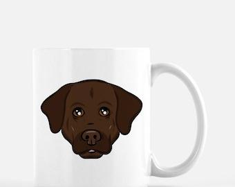 Labrador Retriever Coffee Mug | Chocolate Lab Gift | Cute Dog Mug | Dog Lover Gift | Dog Mom | Dog Dad