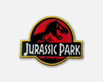 Emroidered patch of Jurassic Park logo