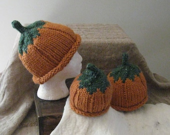 Pumpkin Hat / Bulky-Weight / Toddler / Child / Adult Sizes