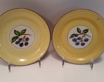 Stangl Pottery - Two Blueberry Coasters #3770