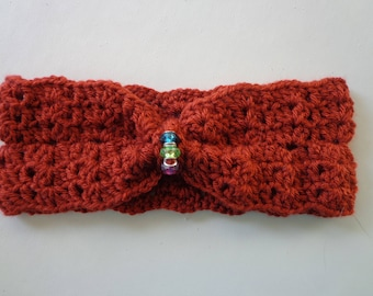 Crocheted Head band, ear warmer, head wrap, Adult, Slip on