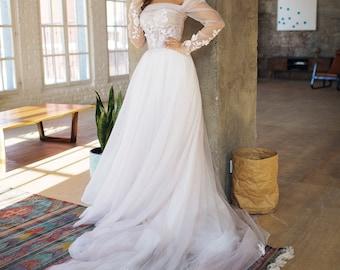 Wedding dress 'FELICHIA' / long train