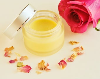 Moisturizer, Natural Beauty Products, Natural Skincare, Balm, Facial Moisturizer, Antioxidant Face Balm, Moisturizing Balm, Rose Balm, Rose