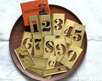 Reese's Interlocking/Adjustable Stencils/Numbers with Original Box