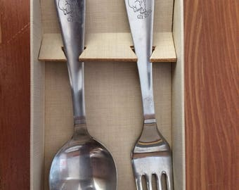 Vintage Babies First Spoon and Fork set