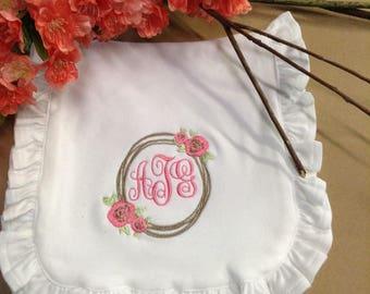 Organic Cotton Vine Flower Burp Cloth