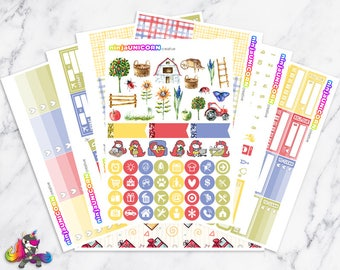 Country Girl || Planner Sticker Kit, Country, Farm, Planner Stickers, Weekly Planner Kit, Planner Kit, Western Stickers, Farm Stickers