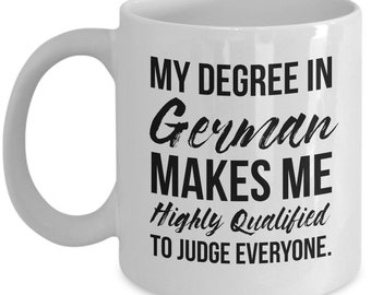 German Teacher Gift, German Teacher Mug, German Degree, Personalized German Teacher, Funny German Gift, German Student Graduation