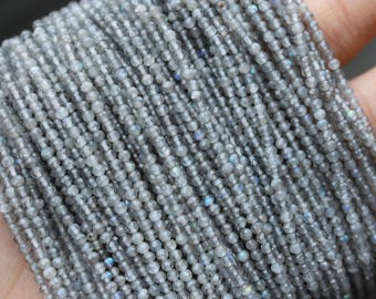 labradorite beads, faceted rondelle, 2mm beads, round beads, small gemstone beads, tiny gemstone beads,