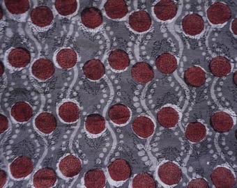 1 Meter Discharge Print Vegetable Dye Soft Cotton Fabric