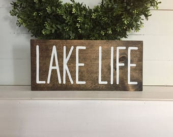 Lake Life - Lake Life Sign - Lake Sign - Lake house sign - custom lake sign - custom sign - custom wood sign - Custom wood lake sign