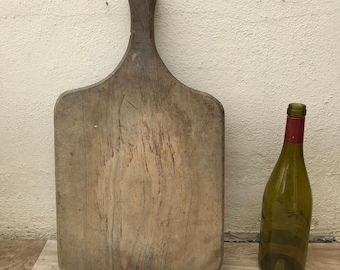 ANTIQUE VINTAGE FRENCH bread or chopping cutting board wood 07061813