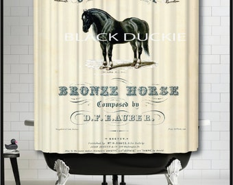 Horse Shower Curtain   Horse Home Decor   Horse Bathroom Decor   Horse  Lover Gifts