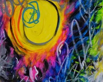 Go, Meg Myers, Music Inspired Series, Original Artwork