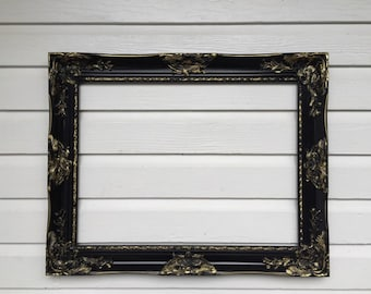 Black and Gold Baroque Frame