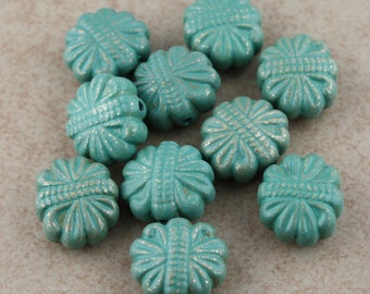 Distressed Patina Flower Beads 18mm