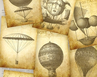 Vintage Air Balloon ATC images - VDATST0805