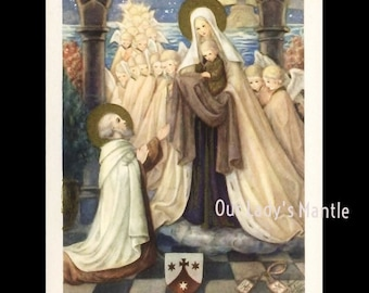 Vintage Our Lady of Mount Carmel Holy Card - Copyrighted by Kunst-Adelt, Holland