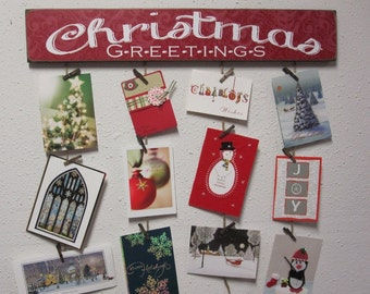 merry mail merry mail card holder christmas card holder christmas greetings card holder - Photo Holder Christmas Cards