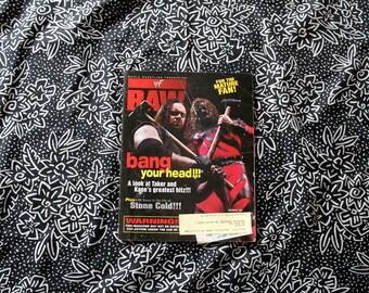 Vintage WWF Magazine. Undertaker And Kane WWE Magazine. Stone Cold Steve Austin Article. Wrestling Gift. Man Cave Decor. 90s Wrestling Mag