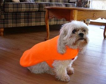 Dog coat, blaze orange, 5 sizes