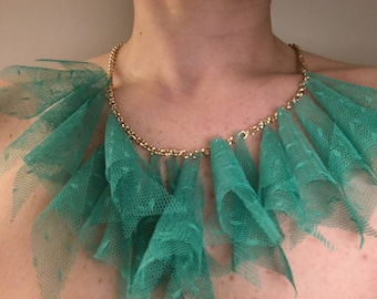 Lace Green Necklace