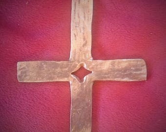 Split Forged Cross, 6 inch, hand forged, blacksmith cross