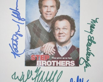 Step Brothers Signed Movie Film Script Screenplay Autographs X8 Will Ferrell John C Reilly Kathryn Hahn Mary Steenburgen Horatio Sanz Jeong