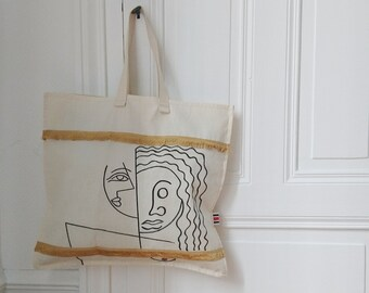 """Tote bag with fringe """"Long hair"""""""
