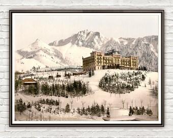 Vintage Photo of Grand-Hôtel de Caux, Montreux,, Switzerland 1895