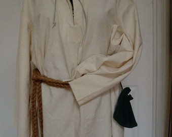 Renaissance Peasant/Worker Tunic Chemise XL (Heavy Weight Cotton)