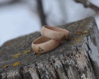 Handmade Legend of Zelda Maple Bentwood Ring (W / WO Triforce Inlay)
