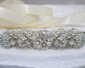 Crystal bridal belt wedding sash rhinestone wedding dress belt bridal sash silver wedding belt bridal dress sash